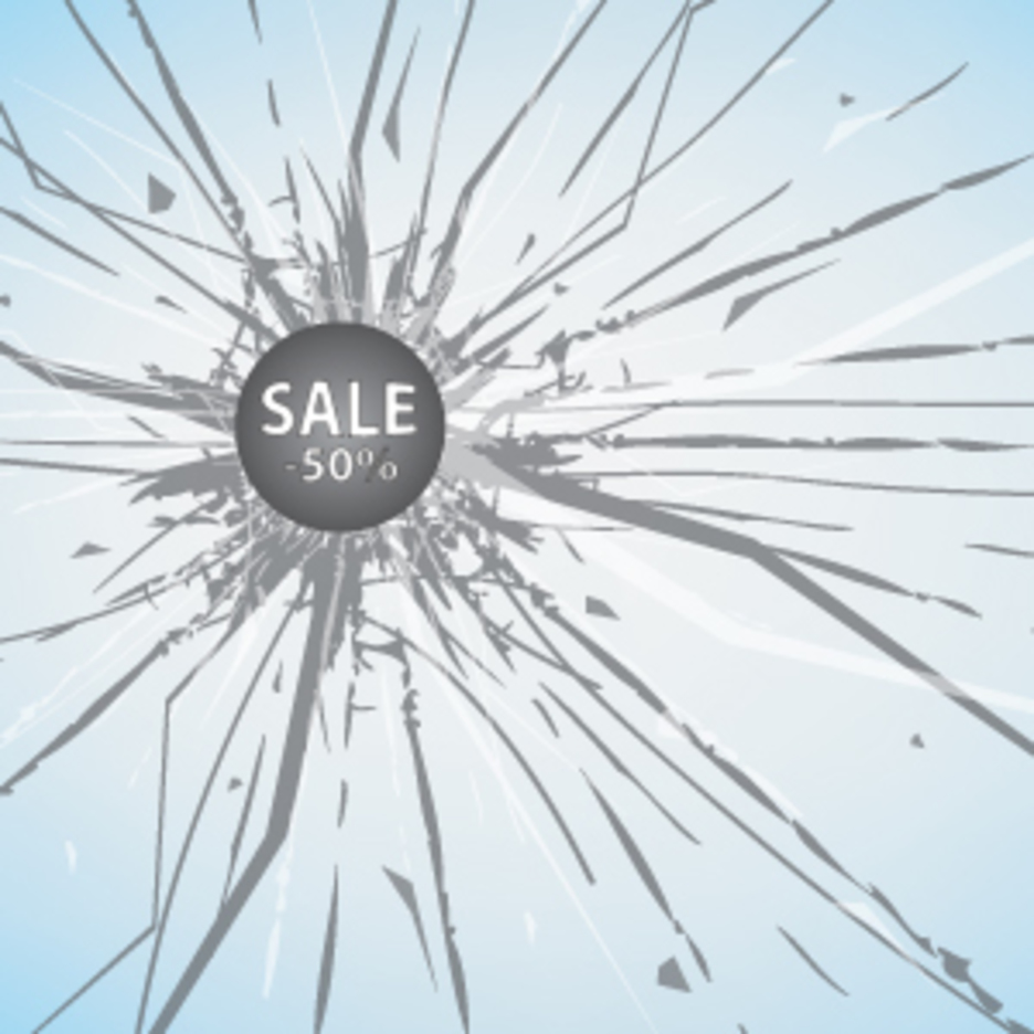 Sales Discount On Broken Glass