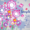 Colorful Flowers Card Brush Design