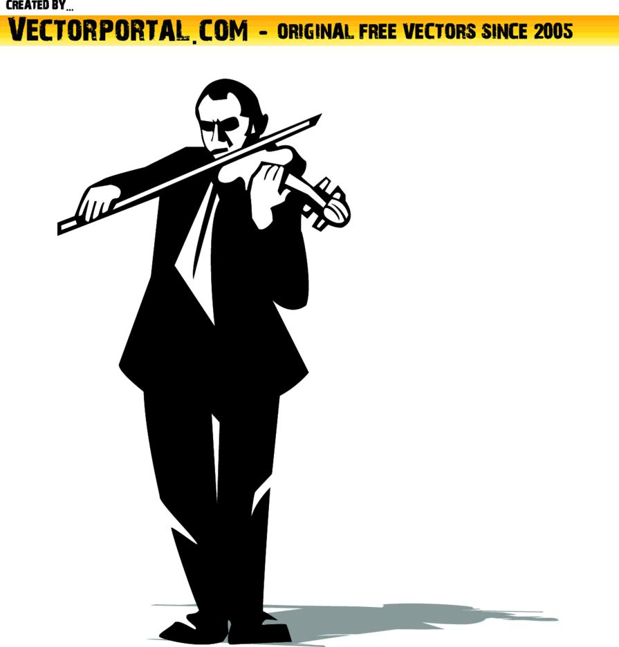Violin Player Vector