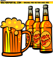 Cold Beer Bottles Vector