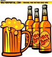 Cold Beer Bottles Vector