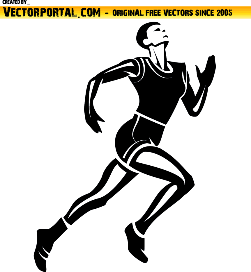 athlete runner vector image freevectors athlete runner vector image freevectors