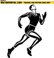 Athlete Runner Vector Image
