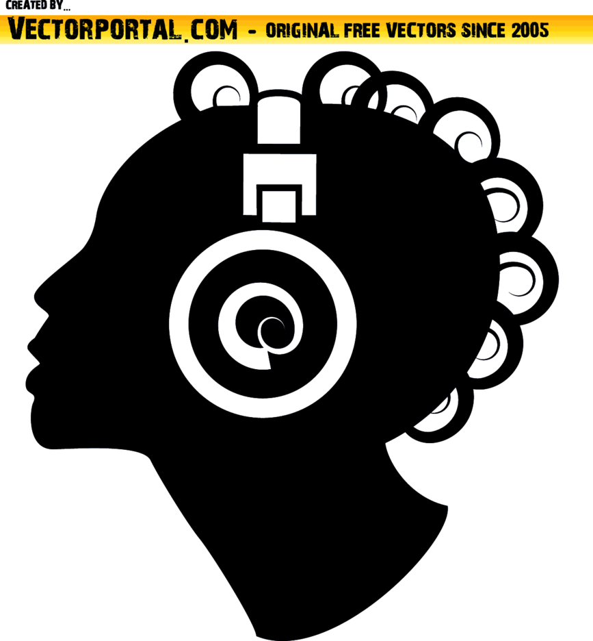Woman Silhouette With Headphones