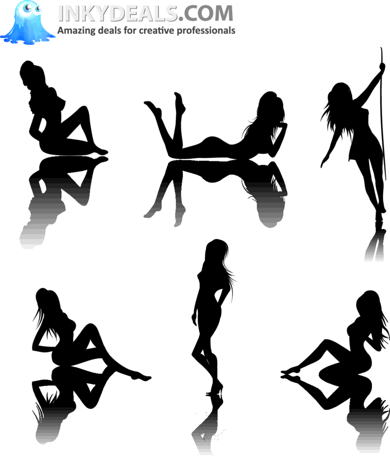 Sexy Woman Silhouettes Set 1 Freevectors