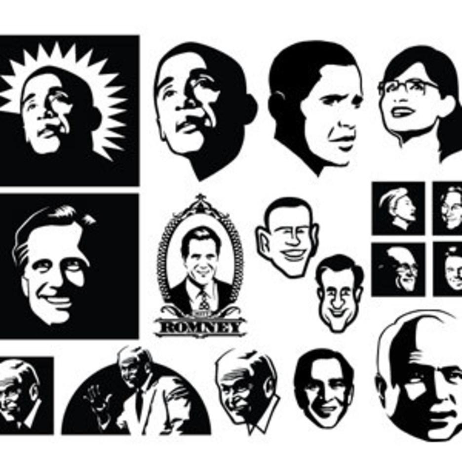 Vector Political Faces
