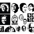 Vector Political Faces