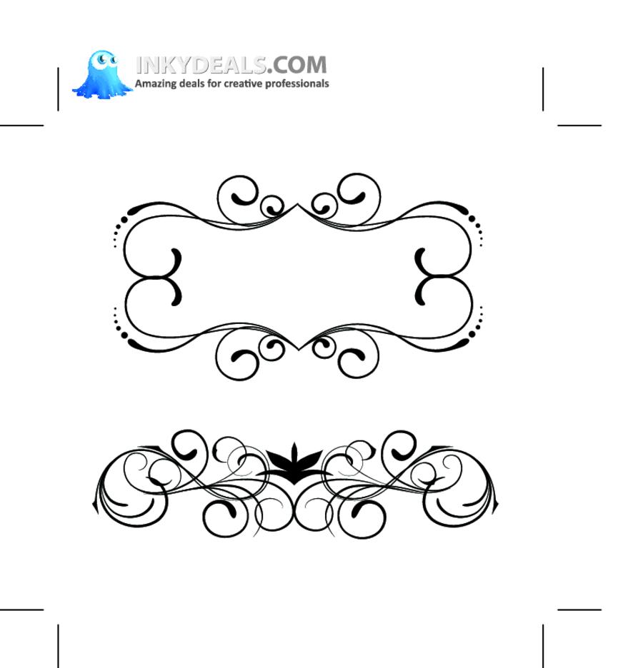 Vector Floral Set 154