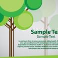 Tree Card Vector Design