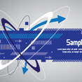 Techno Blue Banner Design