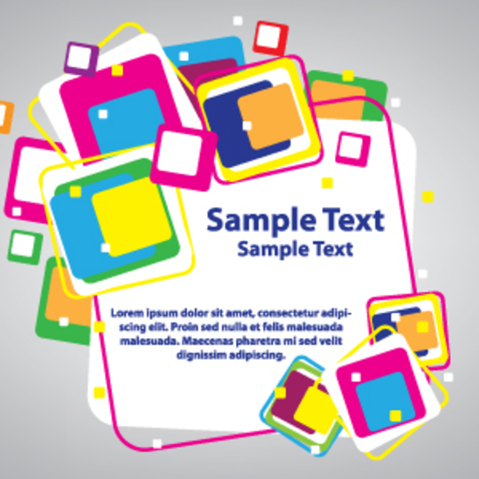 Colorful Cubes Card Design