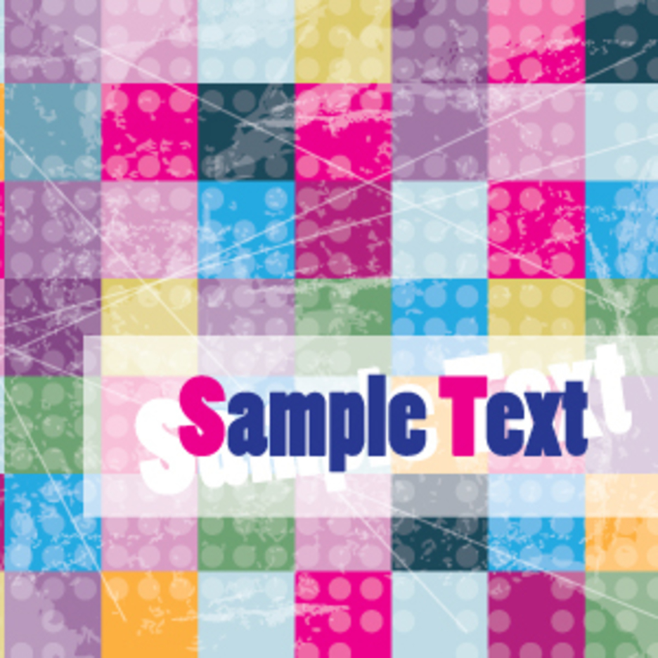 Colorful Cubes Background Card Design