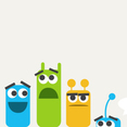 Free Vector Of The Day #149: Cute Colorful Monsters