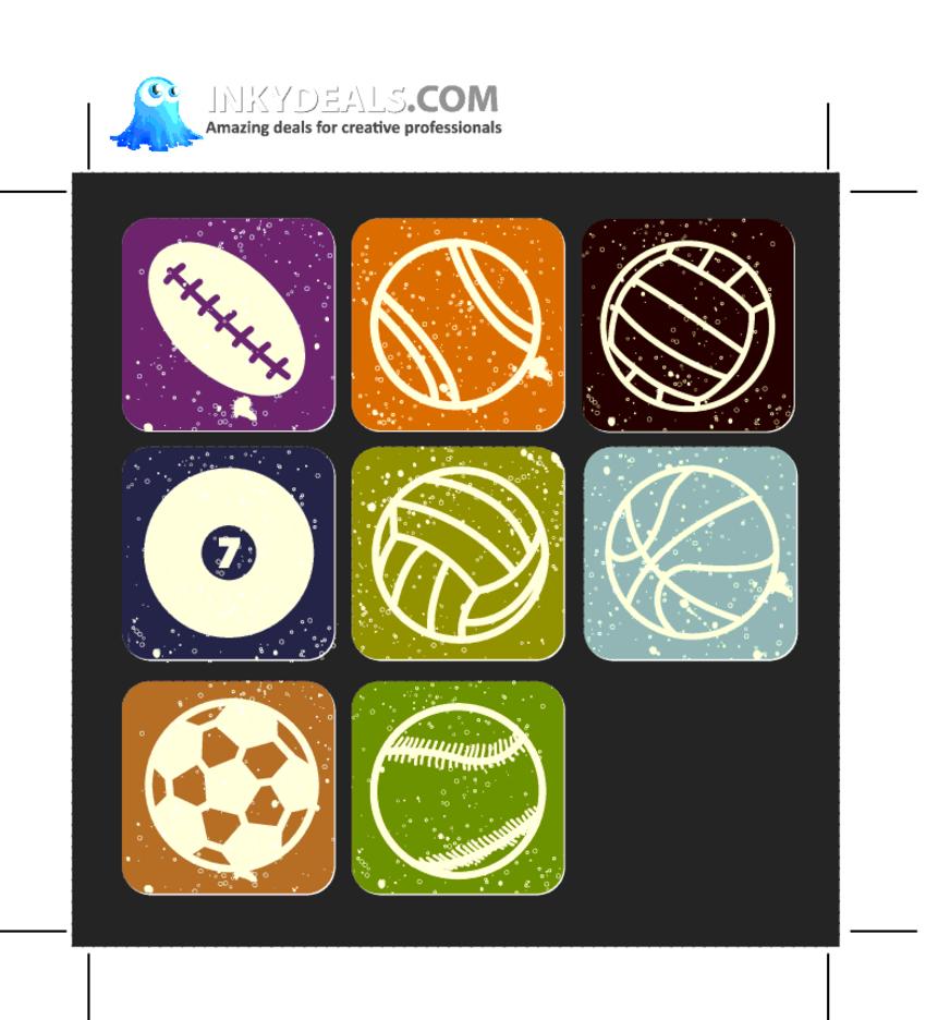 Sport Buttons 1
