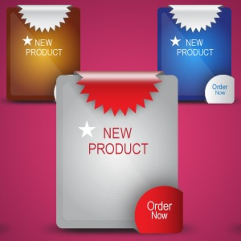 New Product Label - Vector