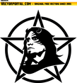 Anarchist Face And Sign Vector