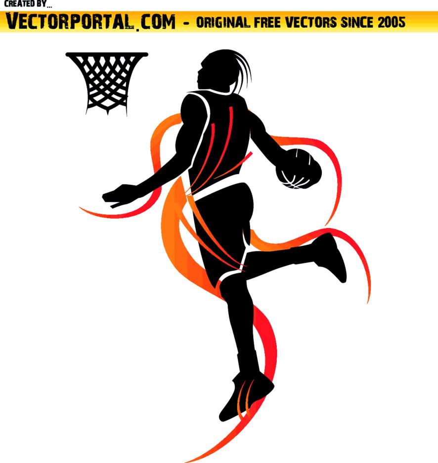 Basketball Player Slam Dunk