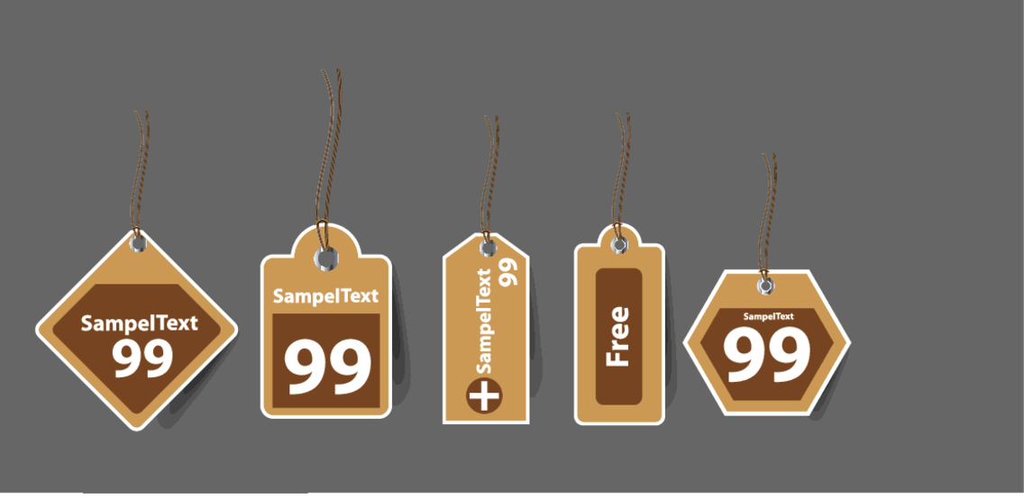 Free Vector Retro Price Tags