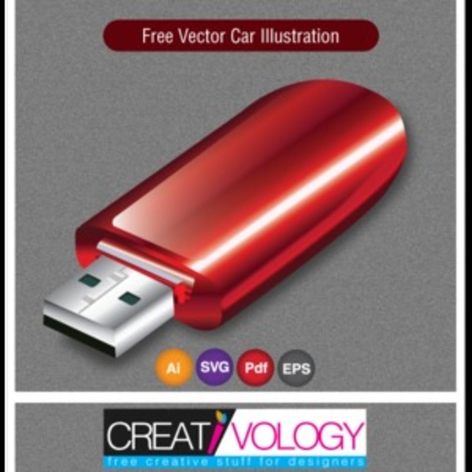 Free Vector Usb Drive