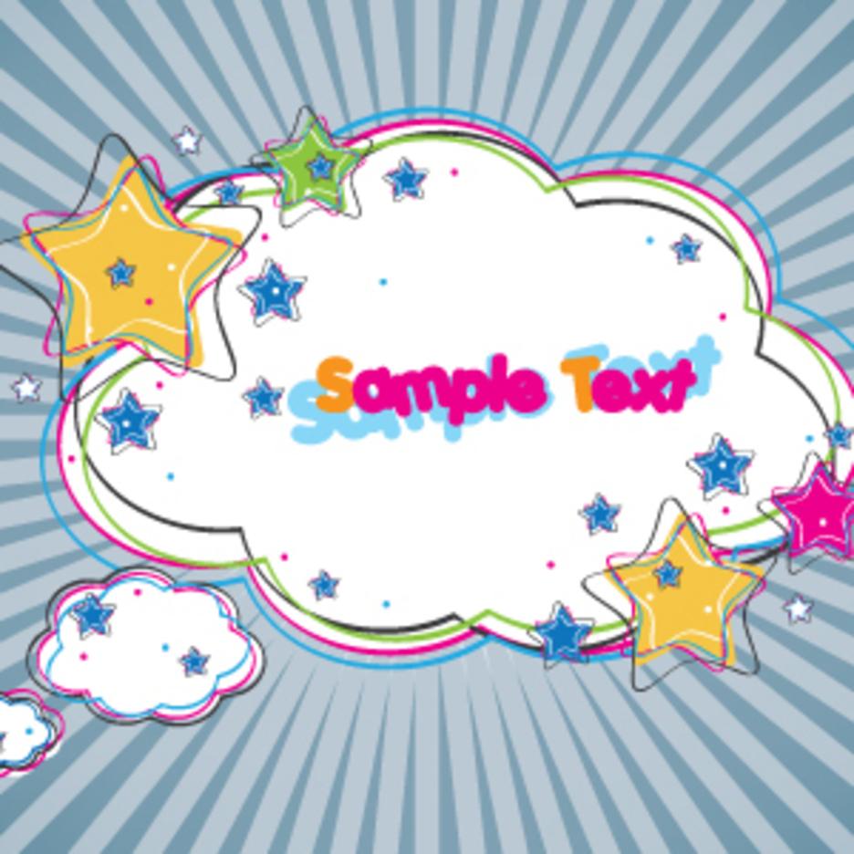 Colorful Cloud Banner Design