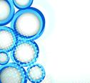 Blue Circle Design Decoration