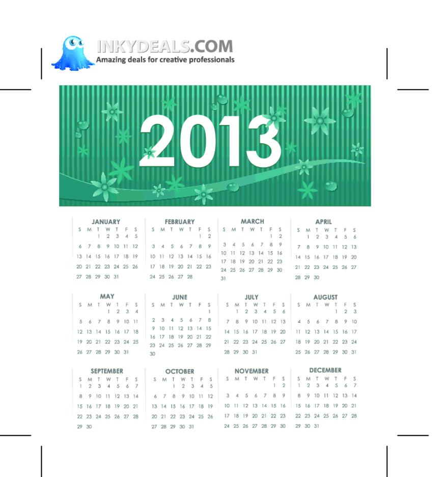 Vector 2013 Calendar 2