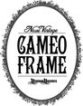 Neue Vintage Cameo Frame Oval Vector