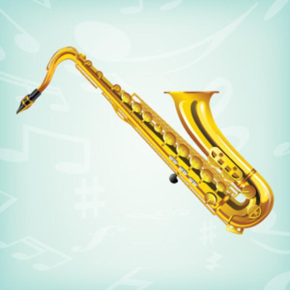 Realistic Saxophone Vector