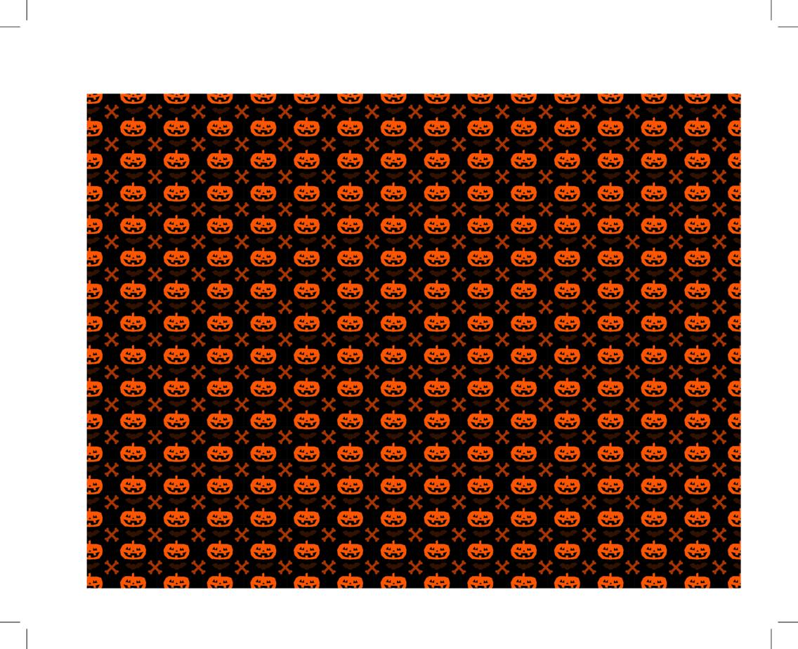 Halloween Pumpkin And Cross Bone Seamless Pattern