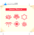 Japanese Floral Vector Set 2