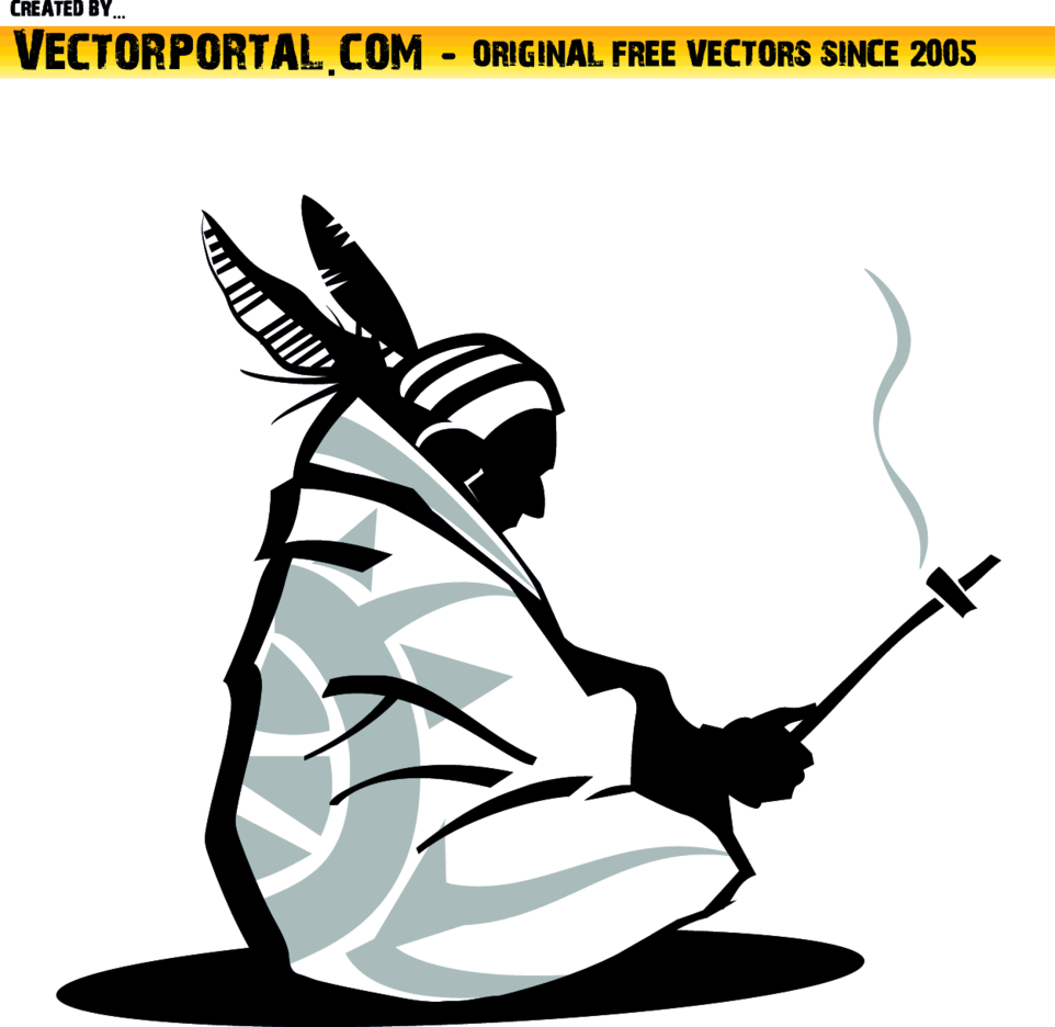 American Native Vector Image