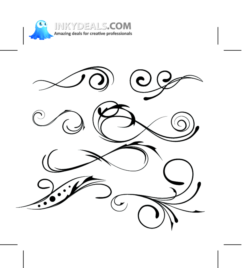 Floral Vector Elements 163