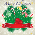 Merry Christmas Banner With Red Ribbon
