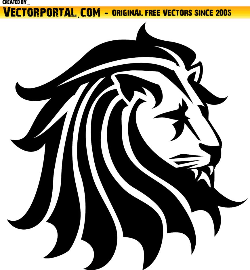 Lion Black Vector Clip Art