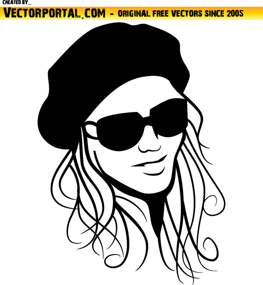 Beautiful Girl With Hat Vector