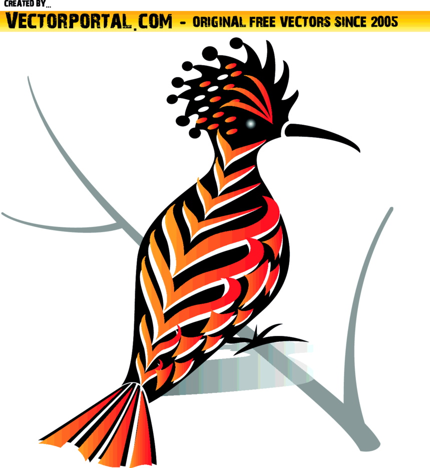 Bird With Colorful Feather Vector