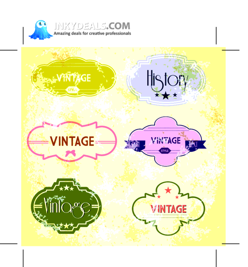 Retro Vintage Vector Labels 20