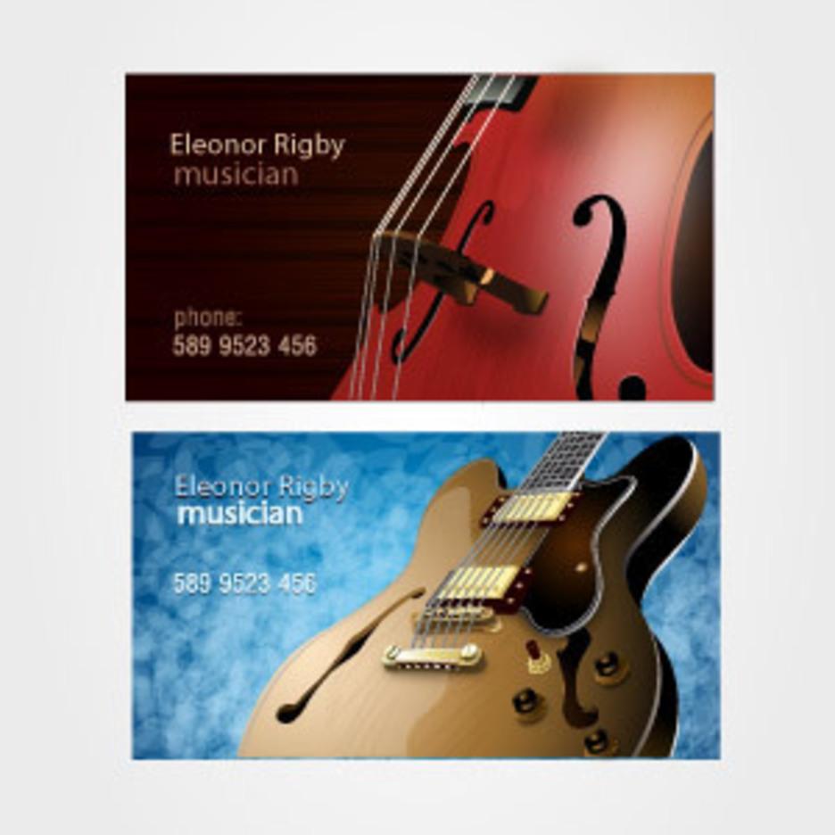 Musicians Business Card Set