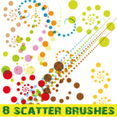 Colorful Dots Scatter Brushes