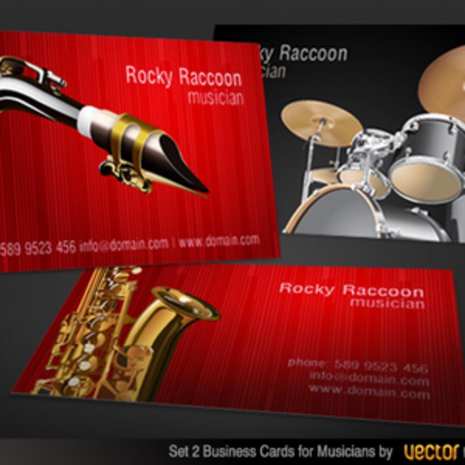 Musicians Business Card Vector