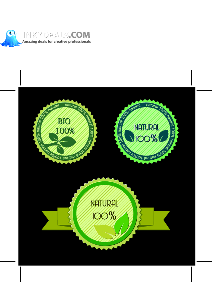 3 Free Vector Eco Labels