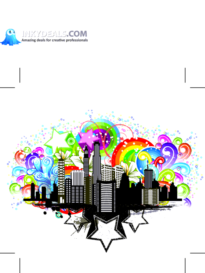 Urban City Rainbow Vector