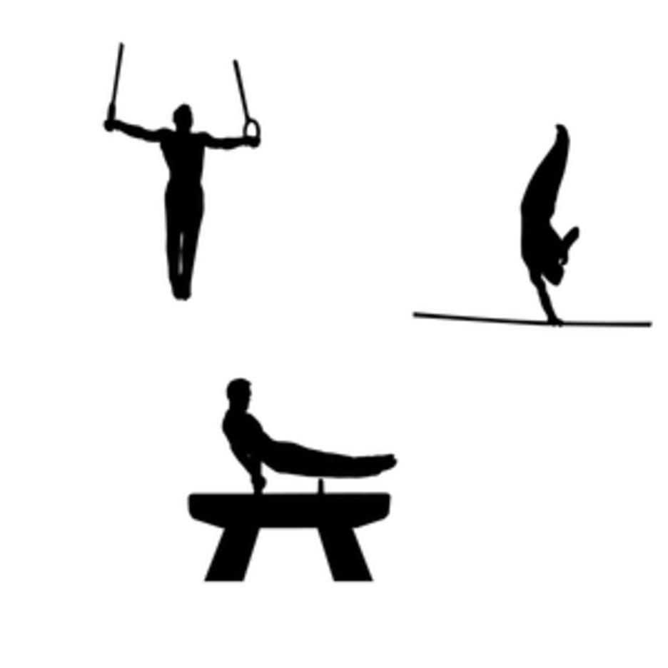 Gymnastics Silhouette Free Vector