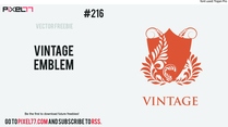 Vintage Emblem Free Vector