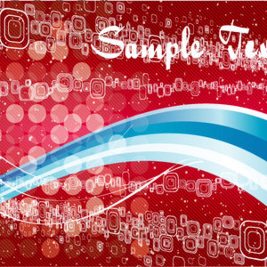 Abstract Bockha Blue & Red Vector