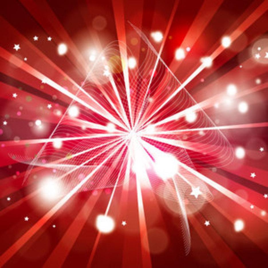 Abstract Ribon Red Vector