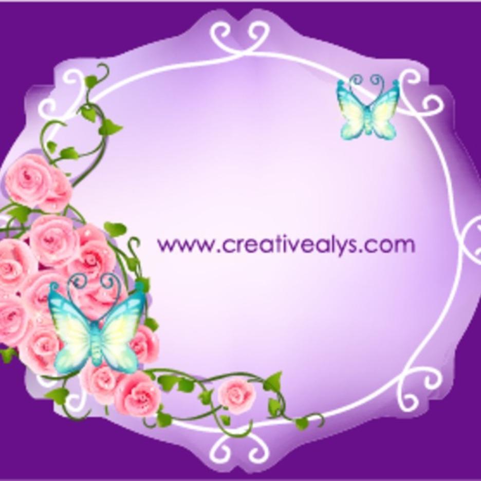 Beautiful Flower Frame Vector