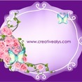 Beautiful Flower Frame Vector