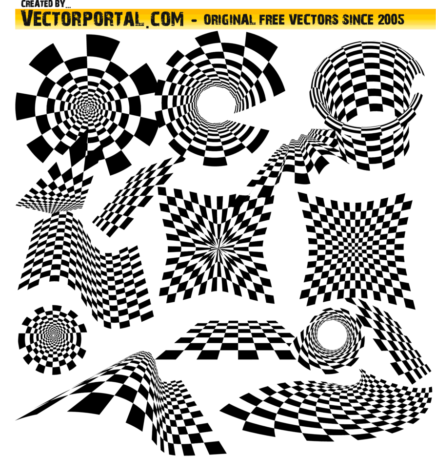 Checkered Vector Pack