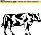 Cow Vector Clip Art